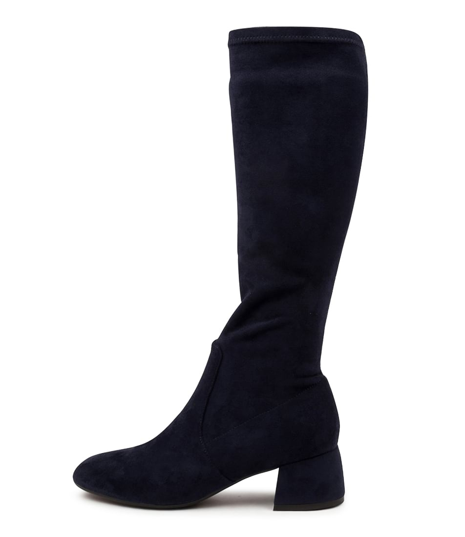 Buy Django & Juliette Chevy Dj Navy Long Boots online with free shipping