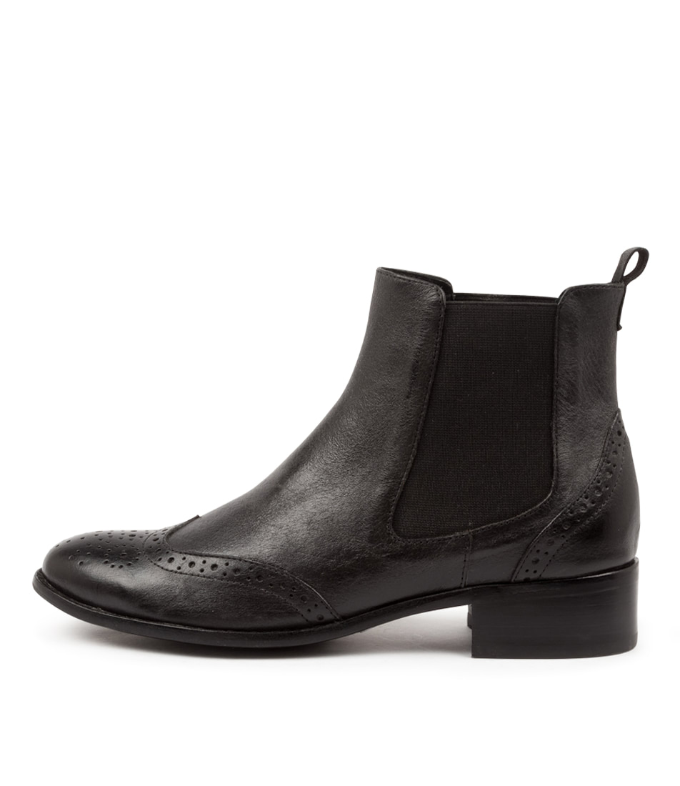 Buy Django & Juliette Clover Dj Black Ankle Boots online with free shipping