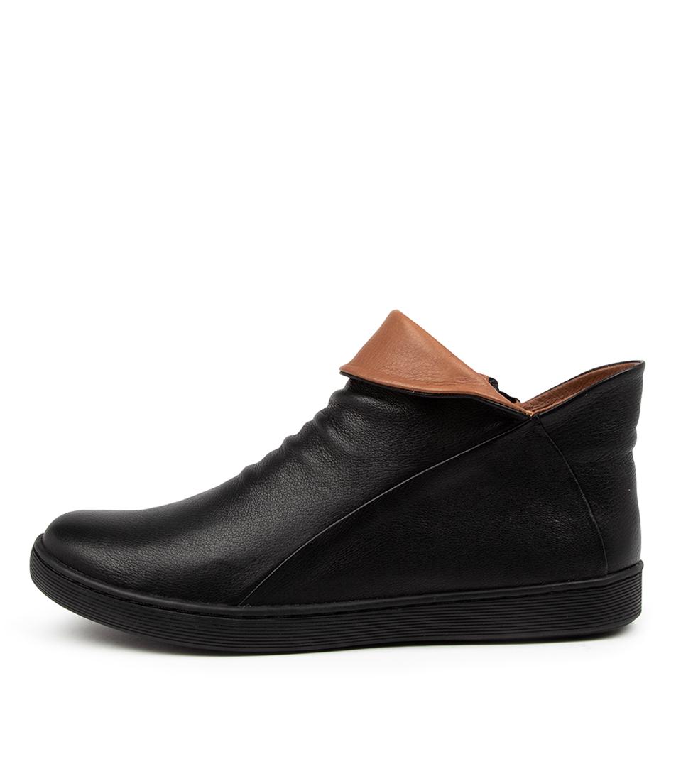 Buy Django & Juliette Dyllan Dj Black Cognac Ankle Boots online with free shipping