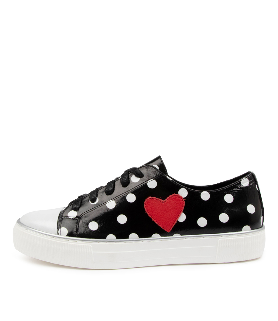 Buy Django & Juliette Fallas Dj Black & White Spot Sneakers online with free shipping