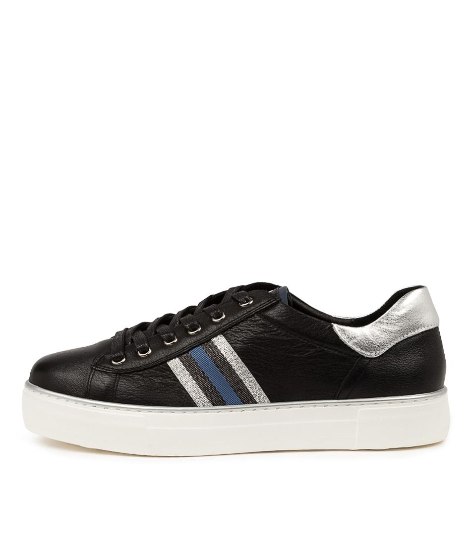 Buy Django & Juliette Fancee Dj Black White Sole Sneakers online with free shipping
