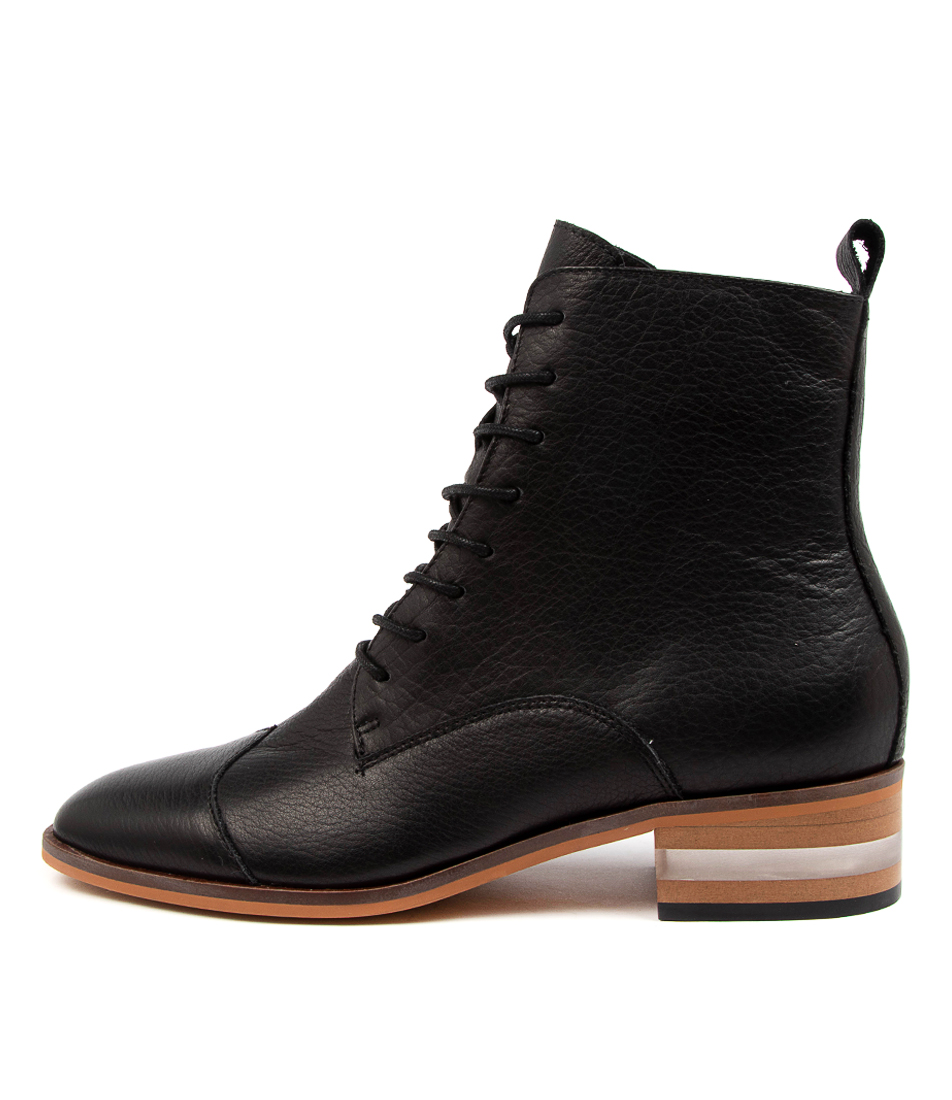 Buy Django & Juliette Friso Dj Black Natural Heel Ankle Boots online with free shipping