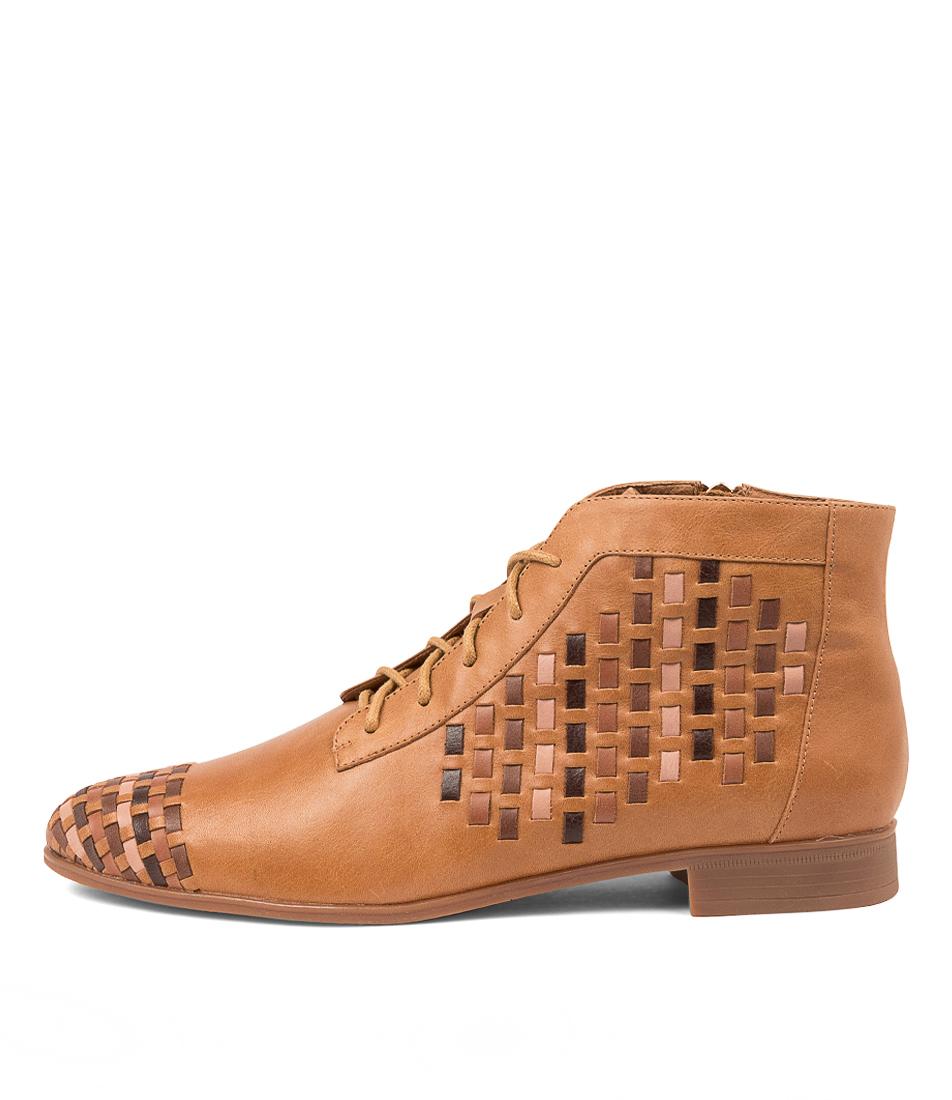 Buy Django & Juliette Gaia Dj Tan Multi Ankle Boots online with free shipping
