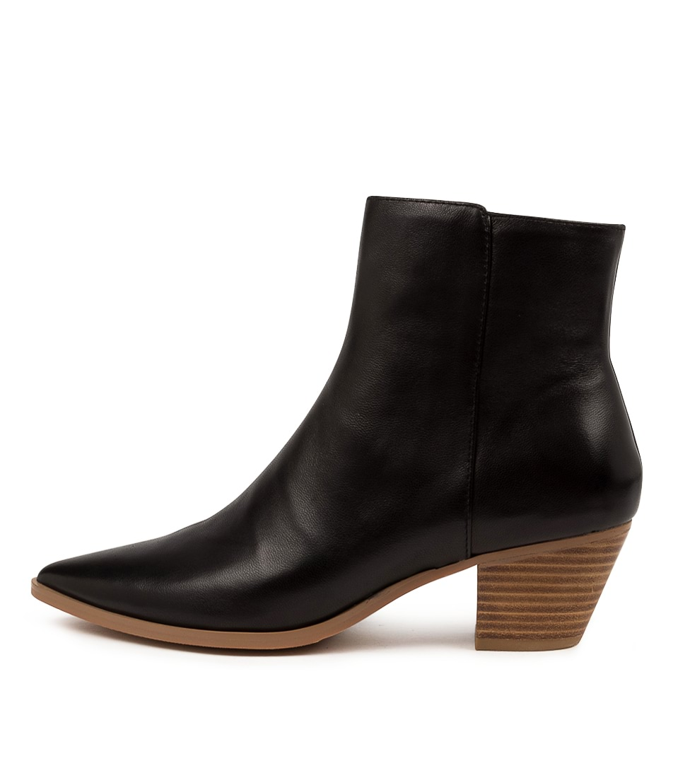 Buy Django & Juliette Grasp Dj Black Natural Ankle Boots online with free shipping
