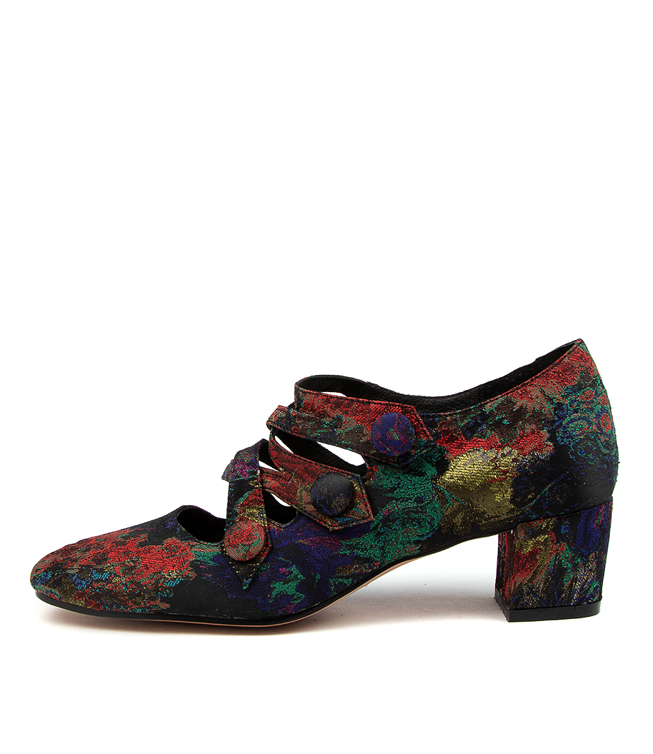 Buy Django & Juliette Hannon Dj Red Multi High Heels online with free shipping