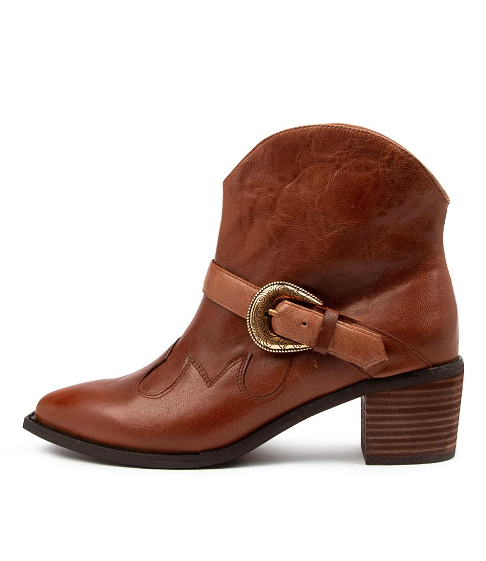 Buy Django & Juliette Isabel Dj Cognac Ankle Boots online with free shipping