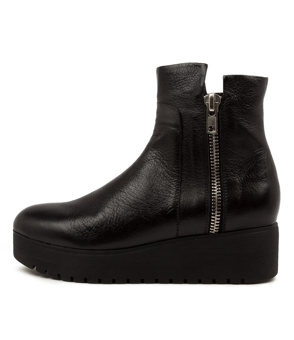Buy Django & Juliette Karsen Dj Black Sole Ankle Boots online with free shipping