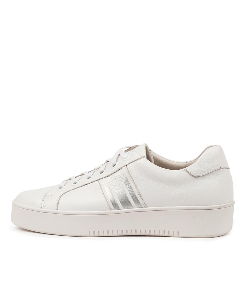 Buy Django & Juliette Lorrie Dj White Silver Sneakers online with free shipping