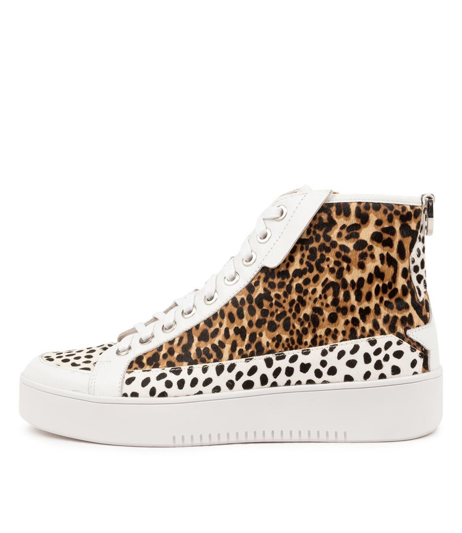 Buy Django & Juliette Lulla Dj White & Black Dot Ankle Boots online with free shipping