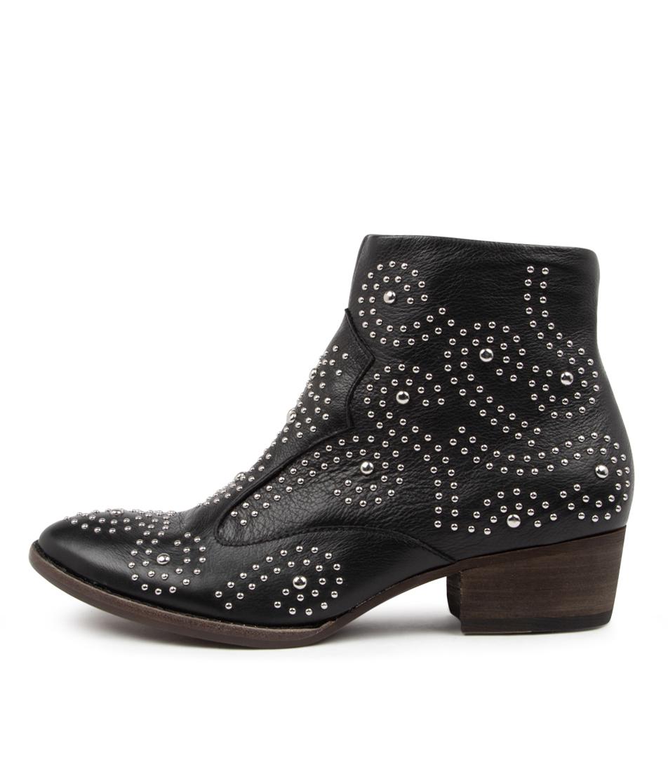 Buy Django & Juliette Lyla Dj Black Heel Ankle Boots online with free shipping