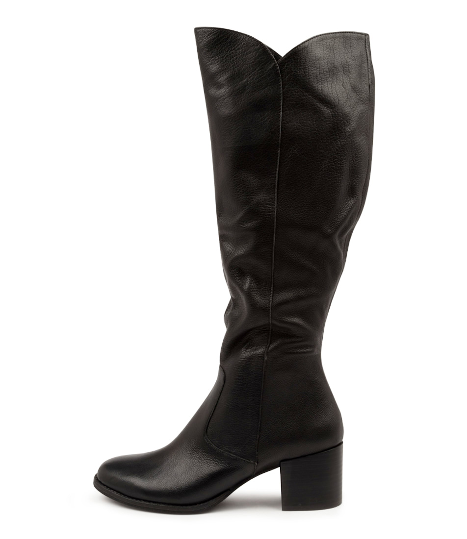 Buy Django & Juliette Meryl Dj Black Heel Long Boots online with free shipping
