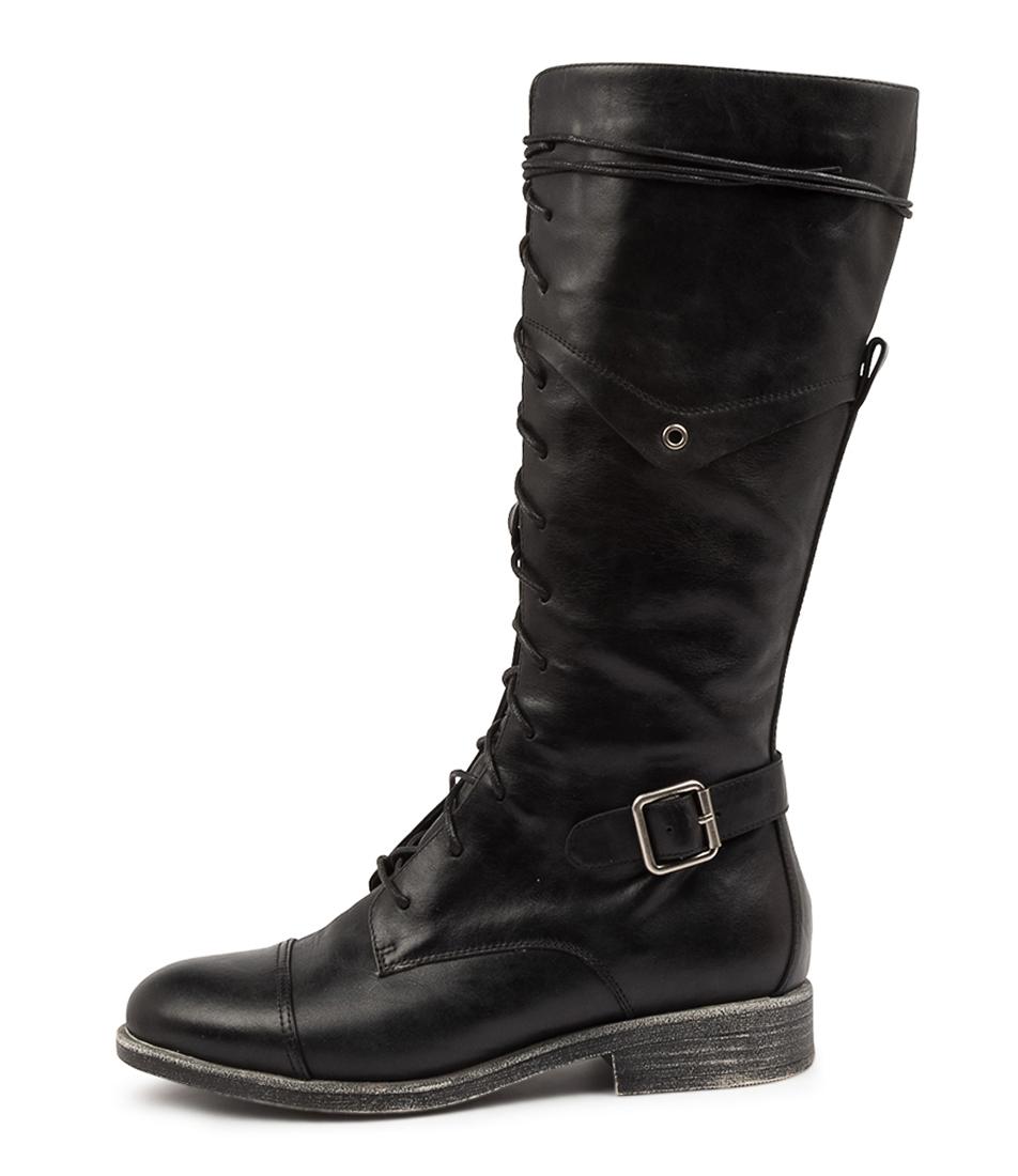 Buy Django & Juliette Mikan Dj Black Long Boots online with free shipping