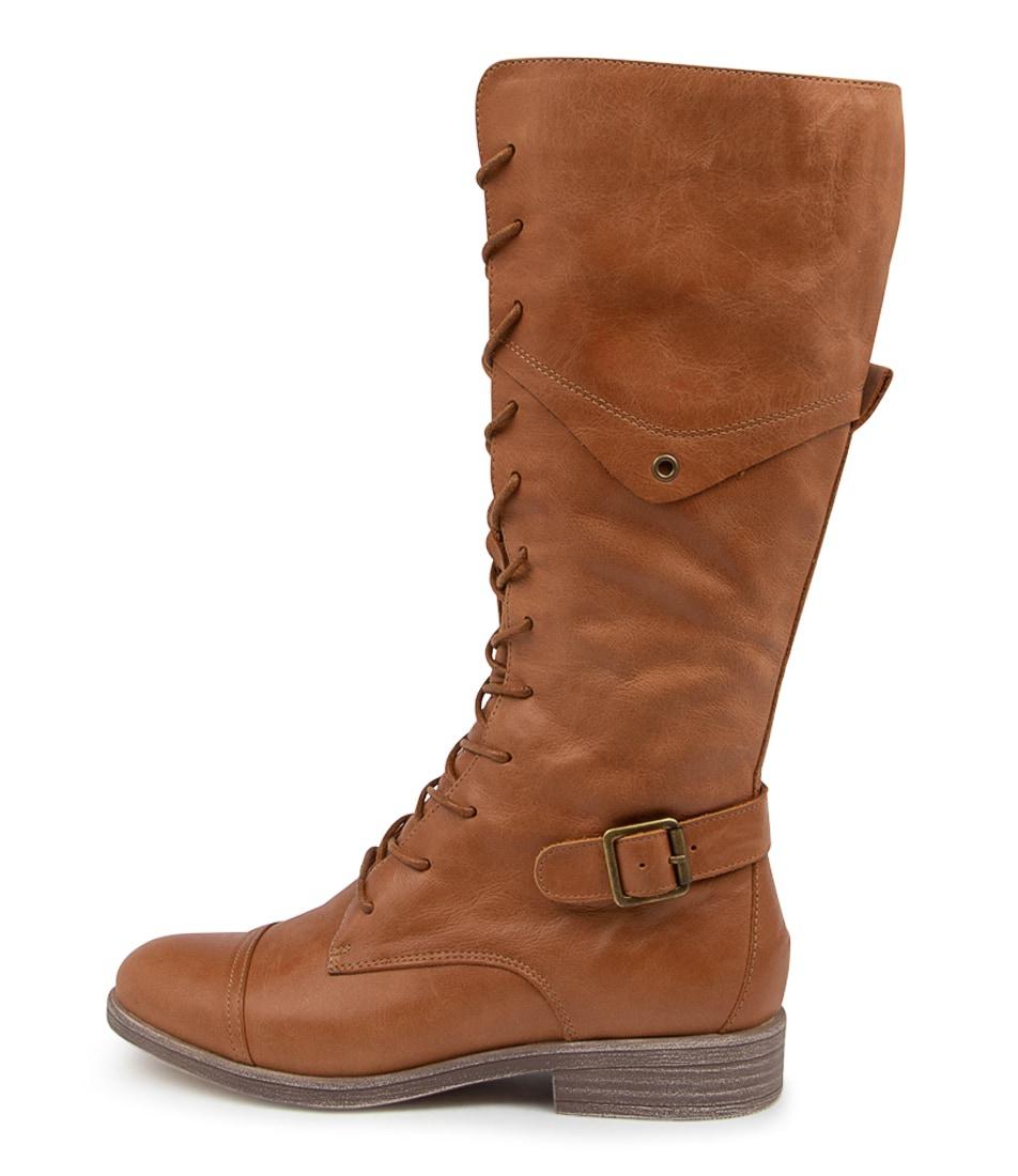 Buy Django & Juliette Mikan Dj Tan Long Boots online with free shipping