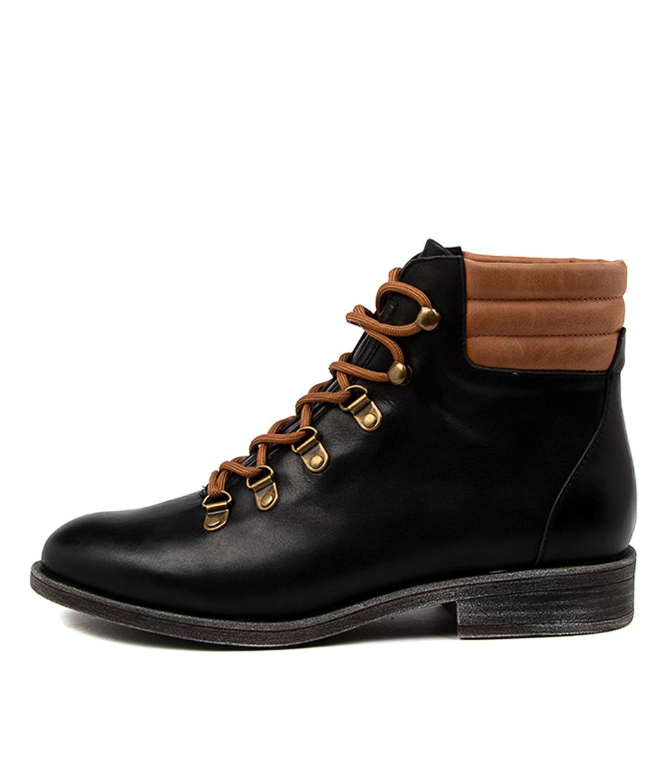 Buy Django & Juliette Minlee Dj Black Tan Ankle Boots online with free shipping