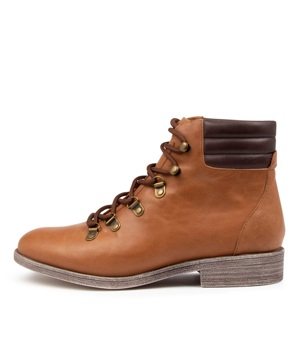 Buy Django & Juliette Minlee Dj Tan Choc Ankle Boots online with free shipping