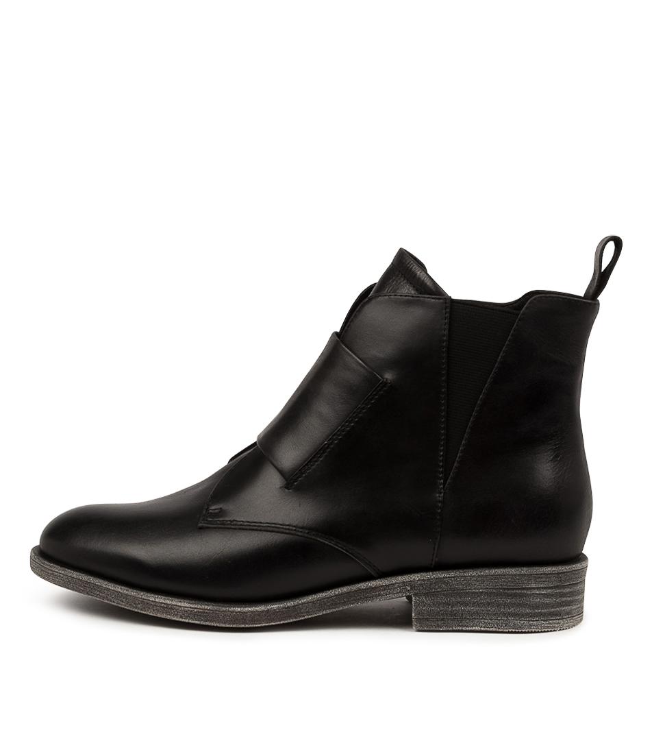 Buy Django & Juliette Moolon Dj Black Ankle Boots online with free shipping
