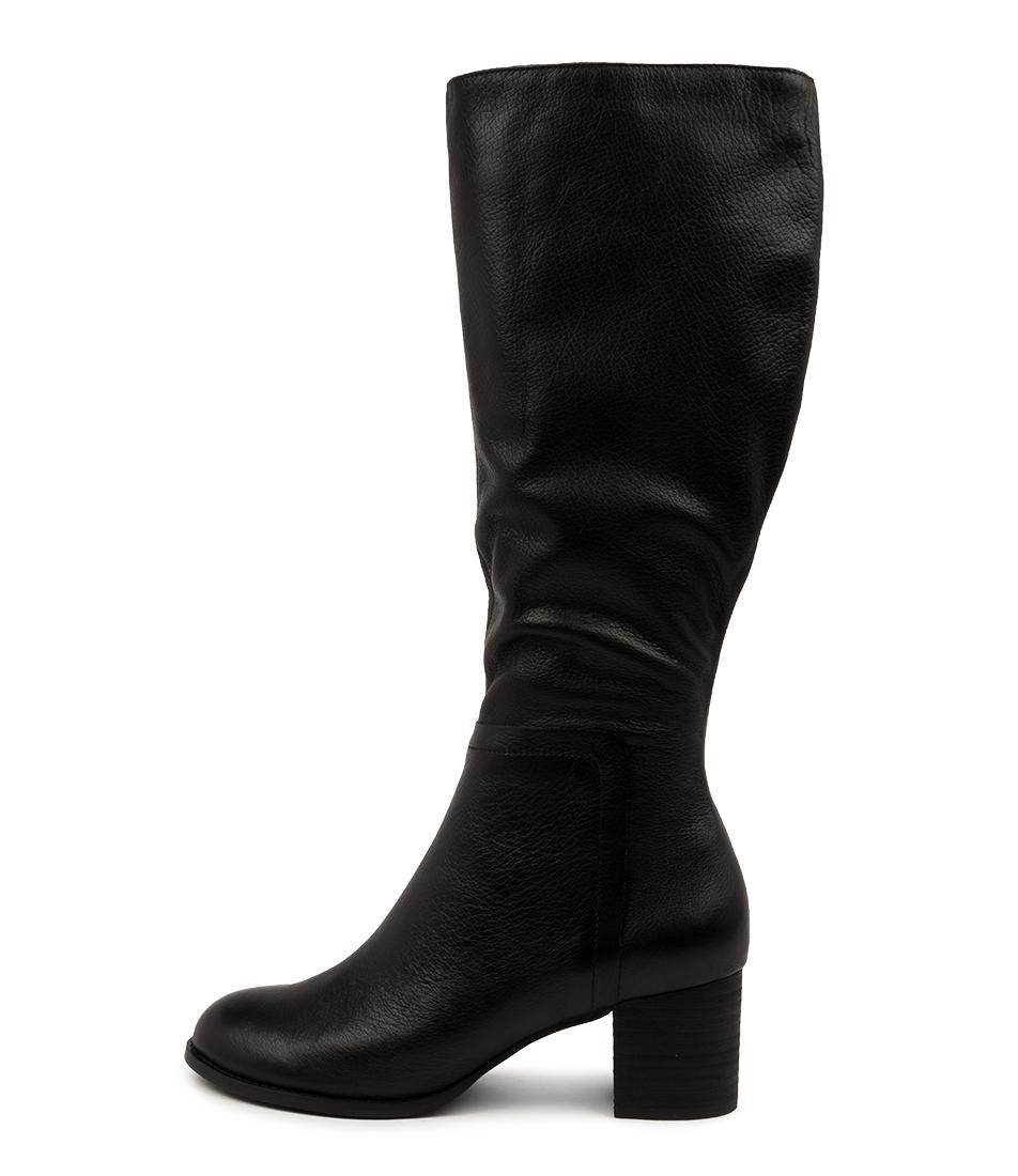 Buy Django & Juliette Sorrie Dj Black Heel Long Boots online with free shipping