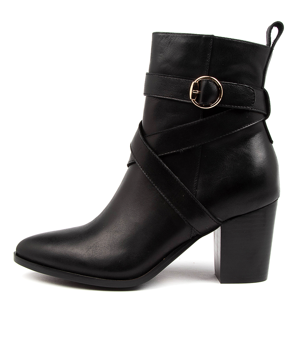 Buy Django & Juliette Thelma Dj Black Heel Ankle Boots online with free shipping