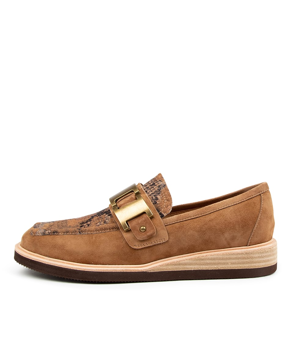Buy Django & Juliette Vieda Dj Tobacco Sand Multi Flats online with free shipping