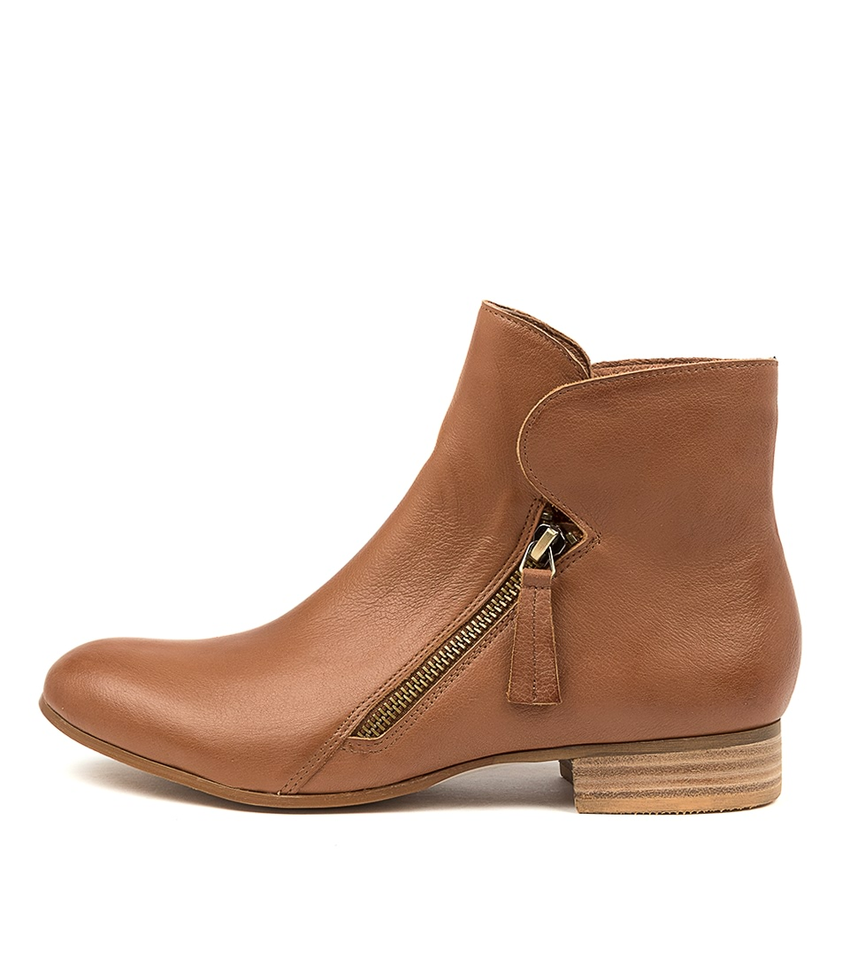 Buy Django & Juliette Fumiko Lrg Cognac Ankle Boots online with free shipping