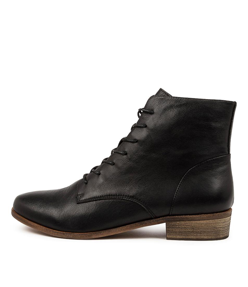 Buy Django & Juliette Sophia Djl New Black Ankle Boots online with free shipping