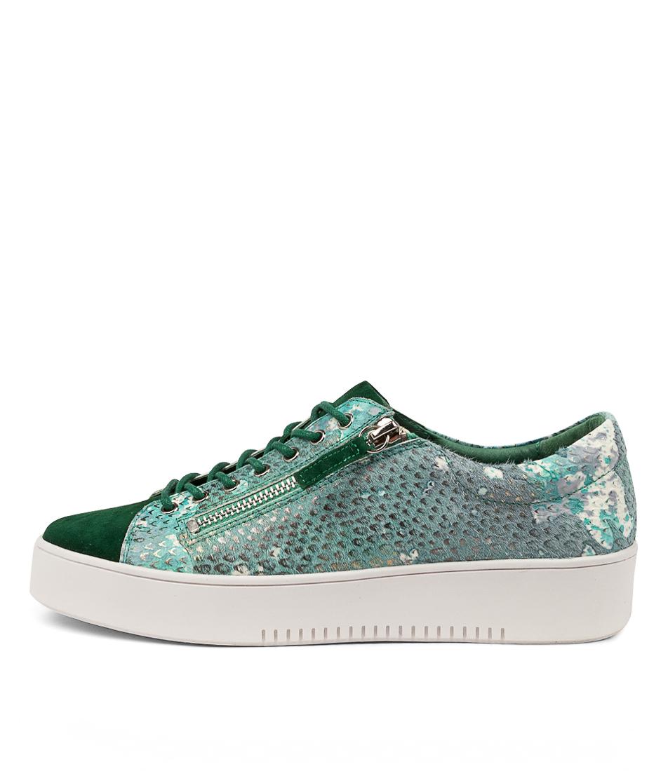 Buy Django & Juliette Laila Djl Dk Emerald Emerald Multi Sneakers online with free shipping