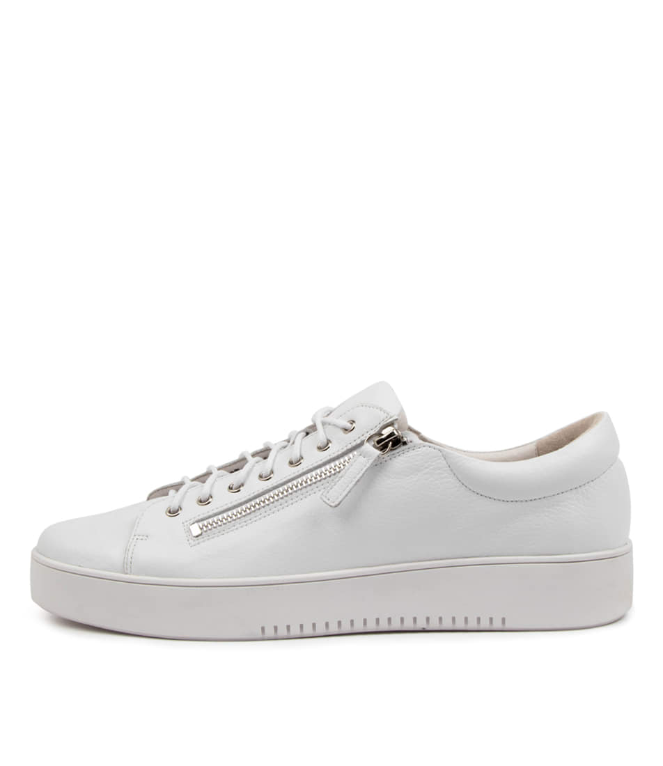 Buy Django & Juliette Laila Djl White White Sole Sneakers online with free shipping