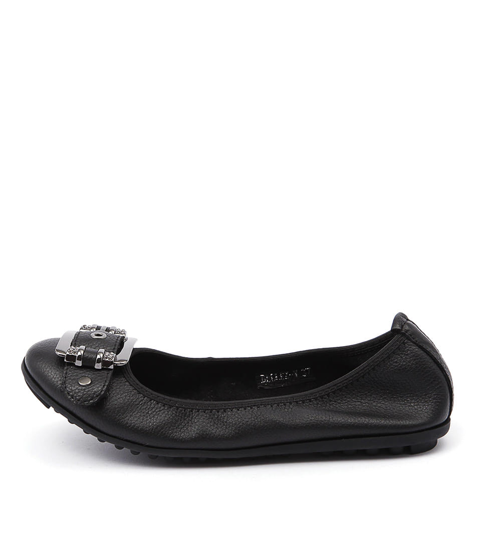 Django & Juliette Bellez Black Comfort Flat Shoes