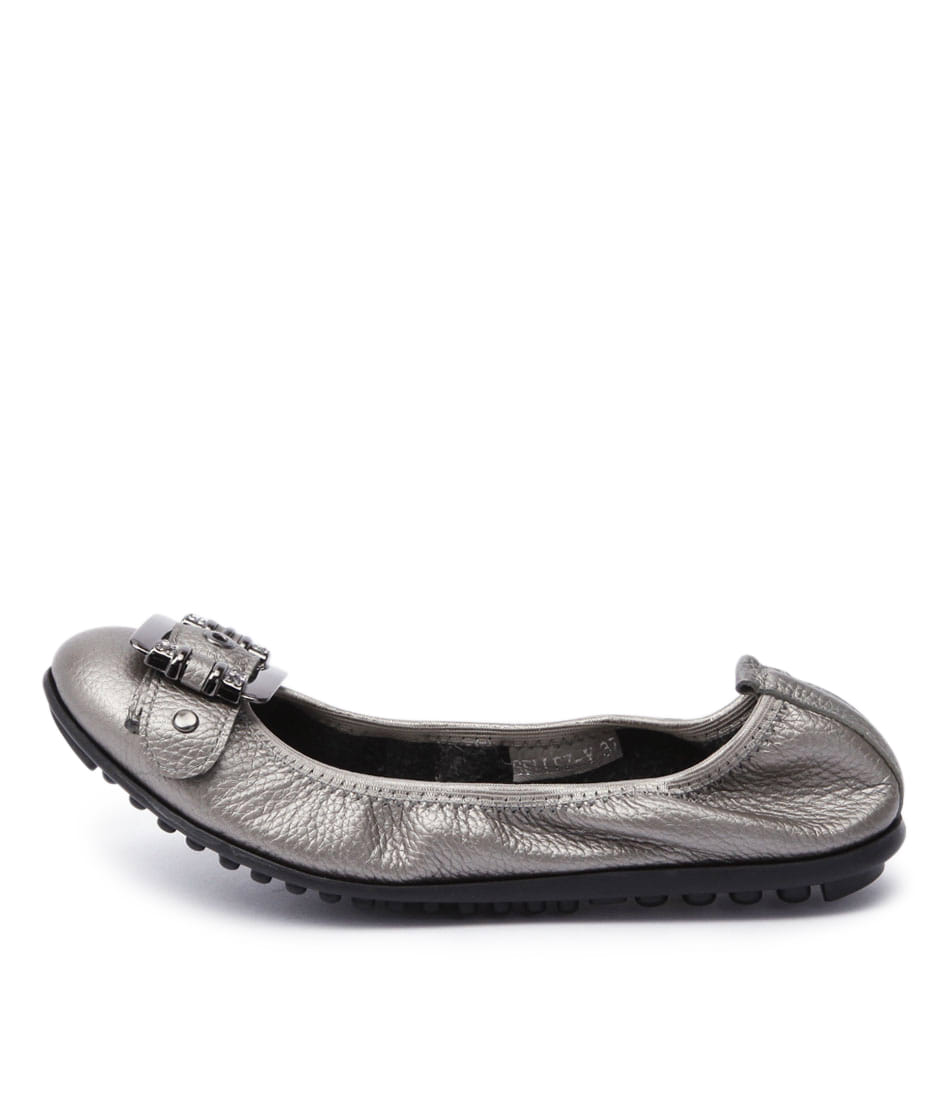 Django & Juliette Bellez Pewter Comfort Flat Shoes