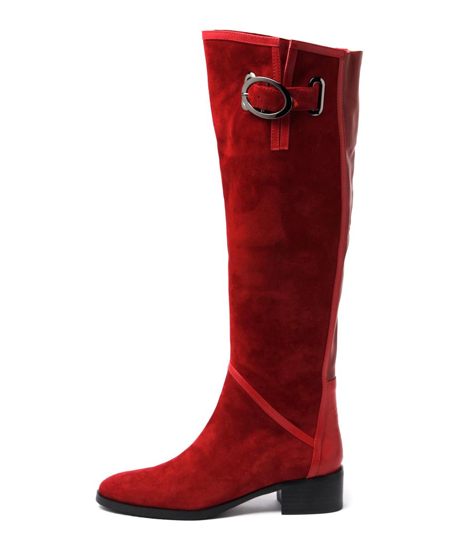 Django & Juliette Tamiladj Red Casual Long Boots