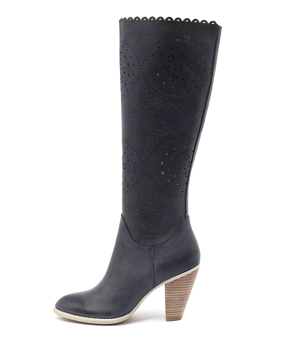 Django & Juliette Voss Blue Casual Long Boots