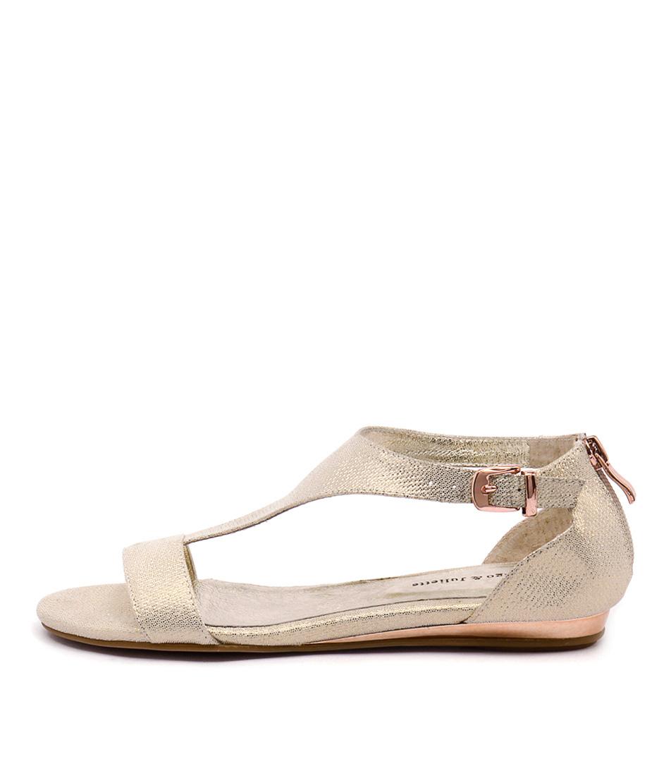 Django & Juliette Kamanda Champagne Sandals