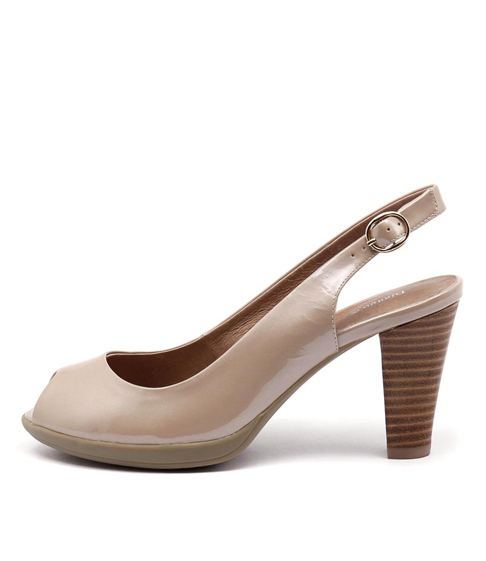 Django & Juliette Wasat Champagne Dress Heeled Sandals