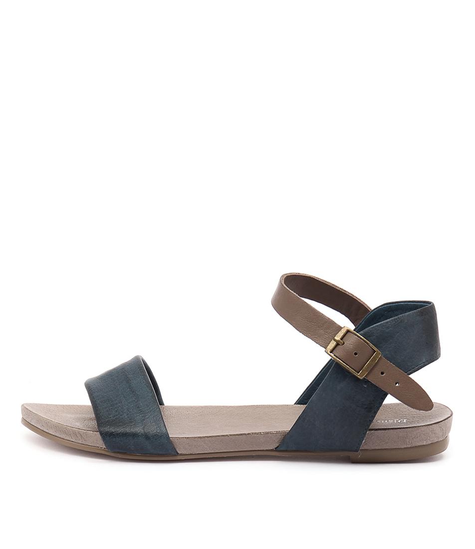 Django & Juliette Jinnit Navy Taupe Sandals