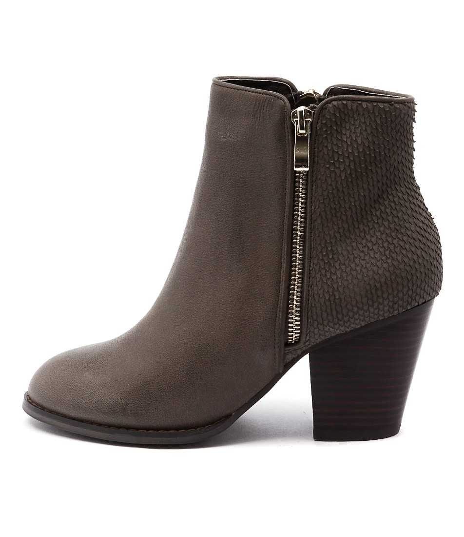 Django & Juliette Roby Olive Casual Ankle Boots