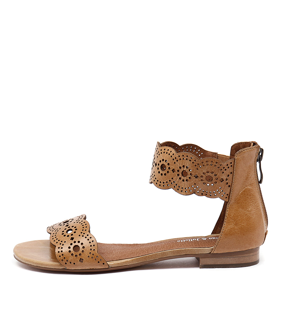 Photo of Django & Juliette Palatie Tan Sandals, shop Django & Juliette shoes online