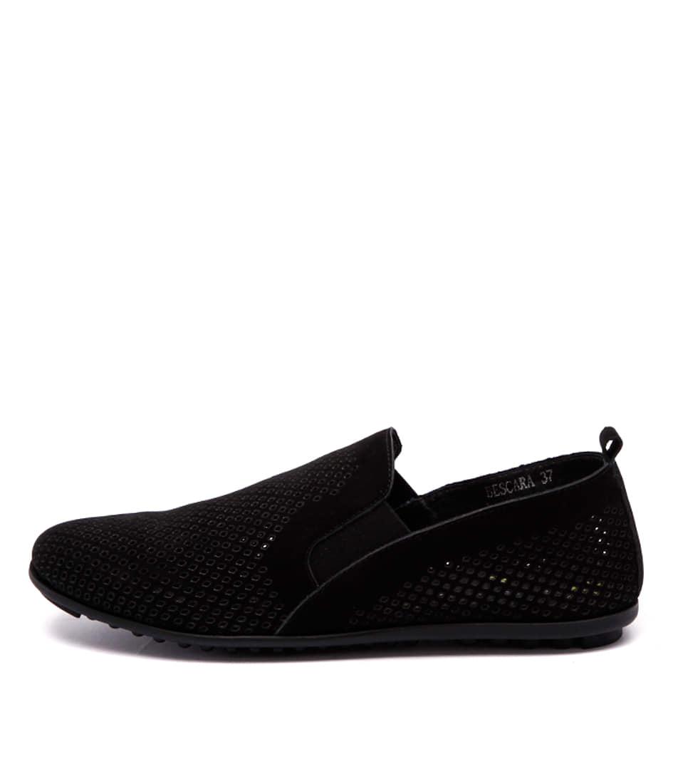 Django & Juliette Bescara Black Comfort Flat Shoes