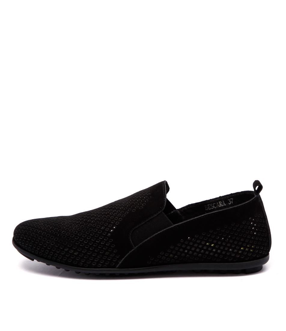 Django & Juliette Bescara Black Comfort Flat Shoes buy  online