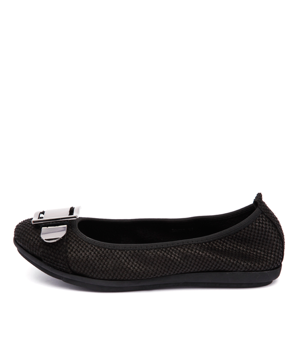 Django & Juliette Danas Black Casual Flat Shoes