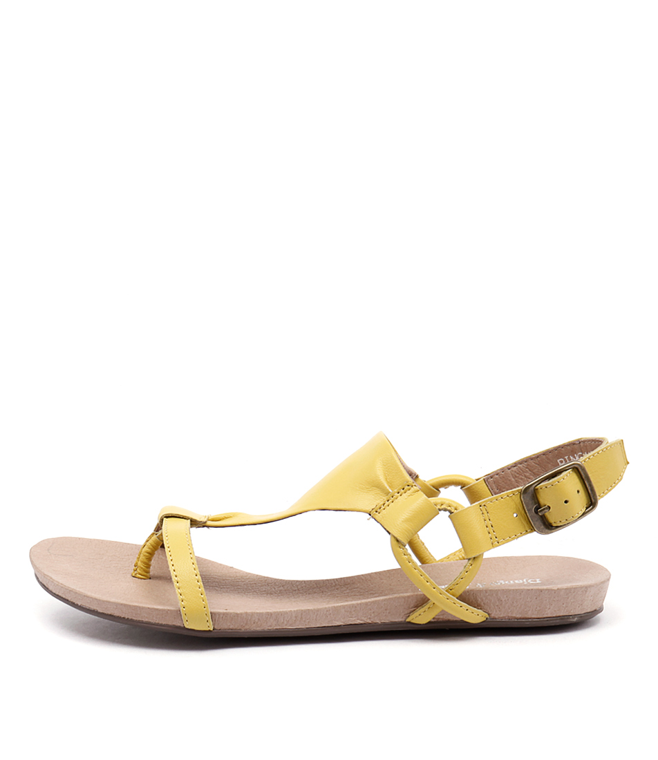 Django & Juliette Bingham Yellow Casual Flat Sandals