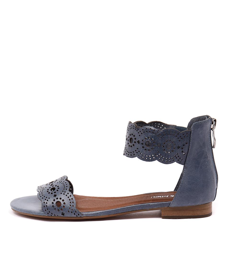 Django & Juliette Palatie Denim Casual Flat Sandals