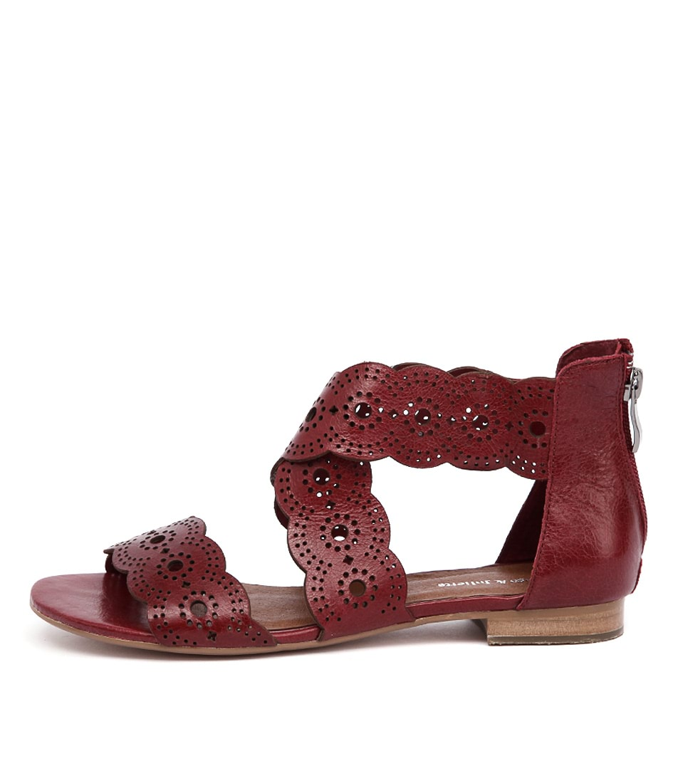 Django & Juliette Pennery Red Casual Flat Sandals