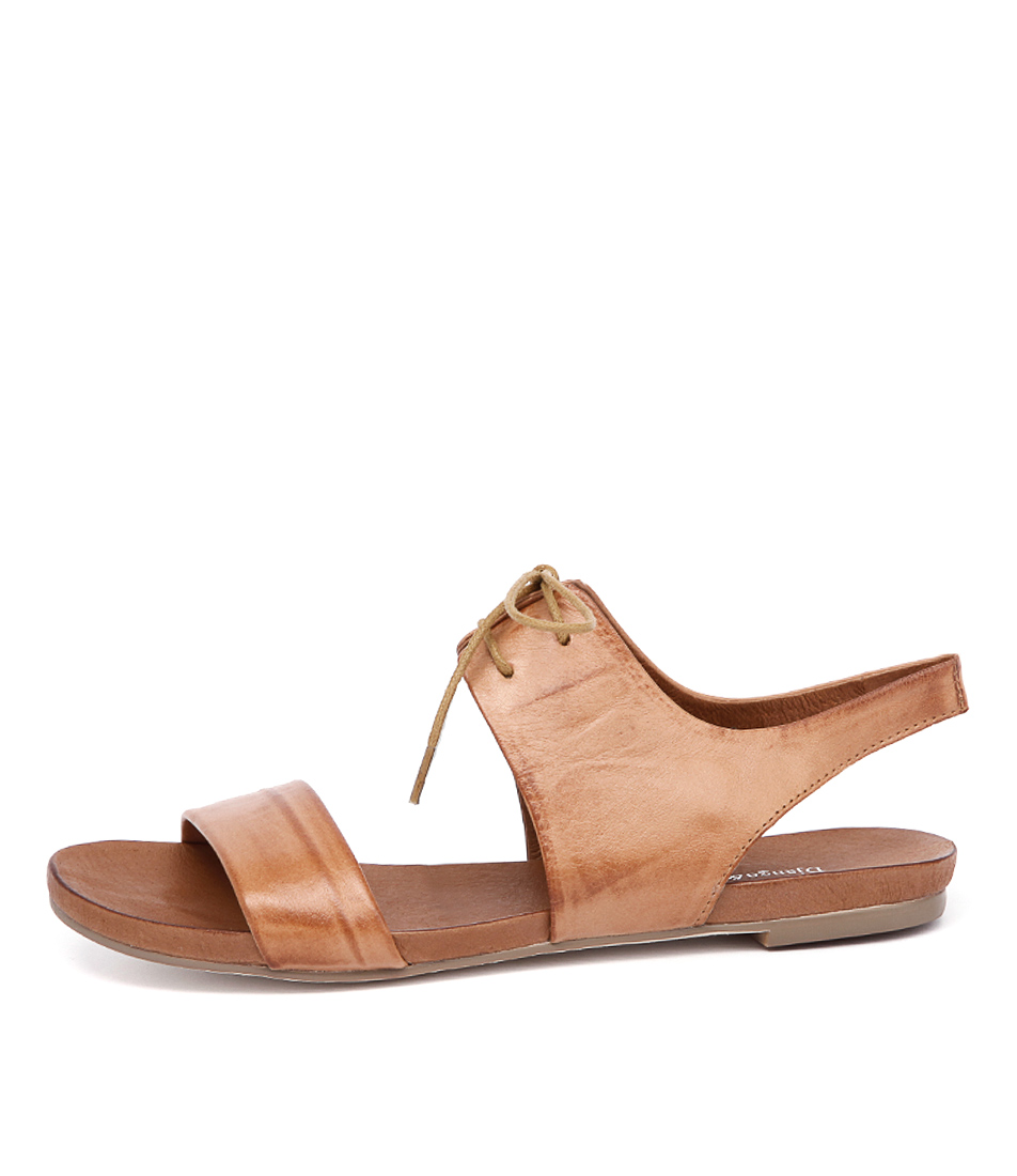 Buy Django & Juliette James Tan Flat Sandals online with free shipping