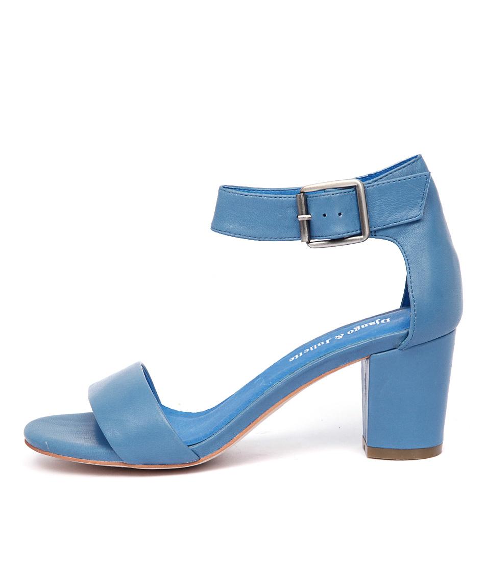Django & Juliette Cassier Bright Blue Casual Heeled Sandals