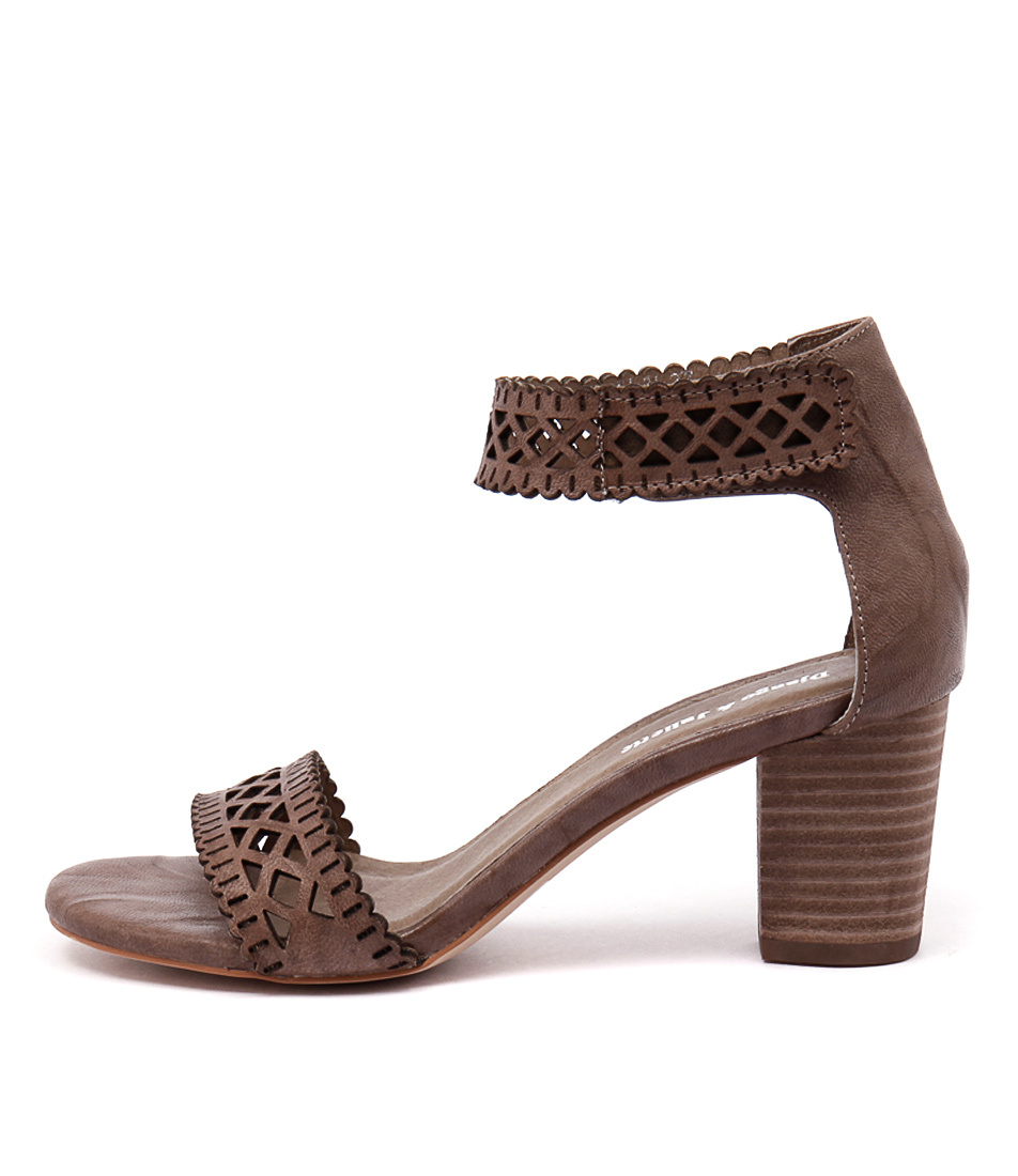 Django & Juliette Cajun Taupe Dress Heeled Sandals