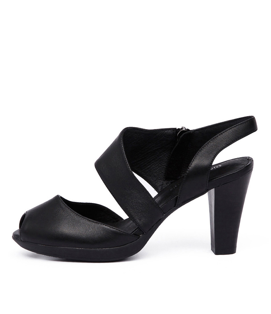 Django & Juliette Walsh Black Sandals