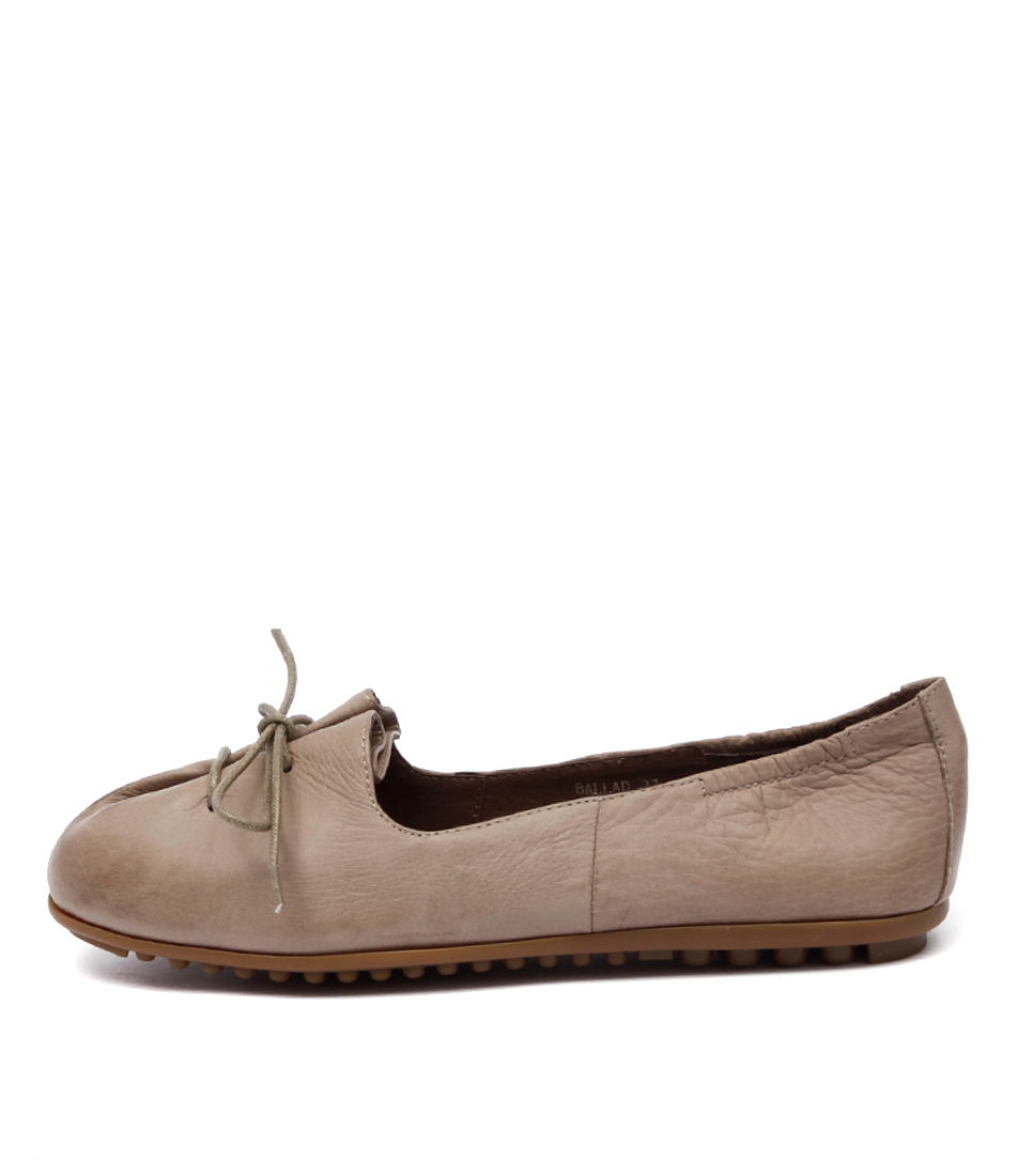 Django & Juliette Ballad Taupe Flat Shoes