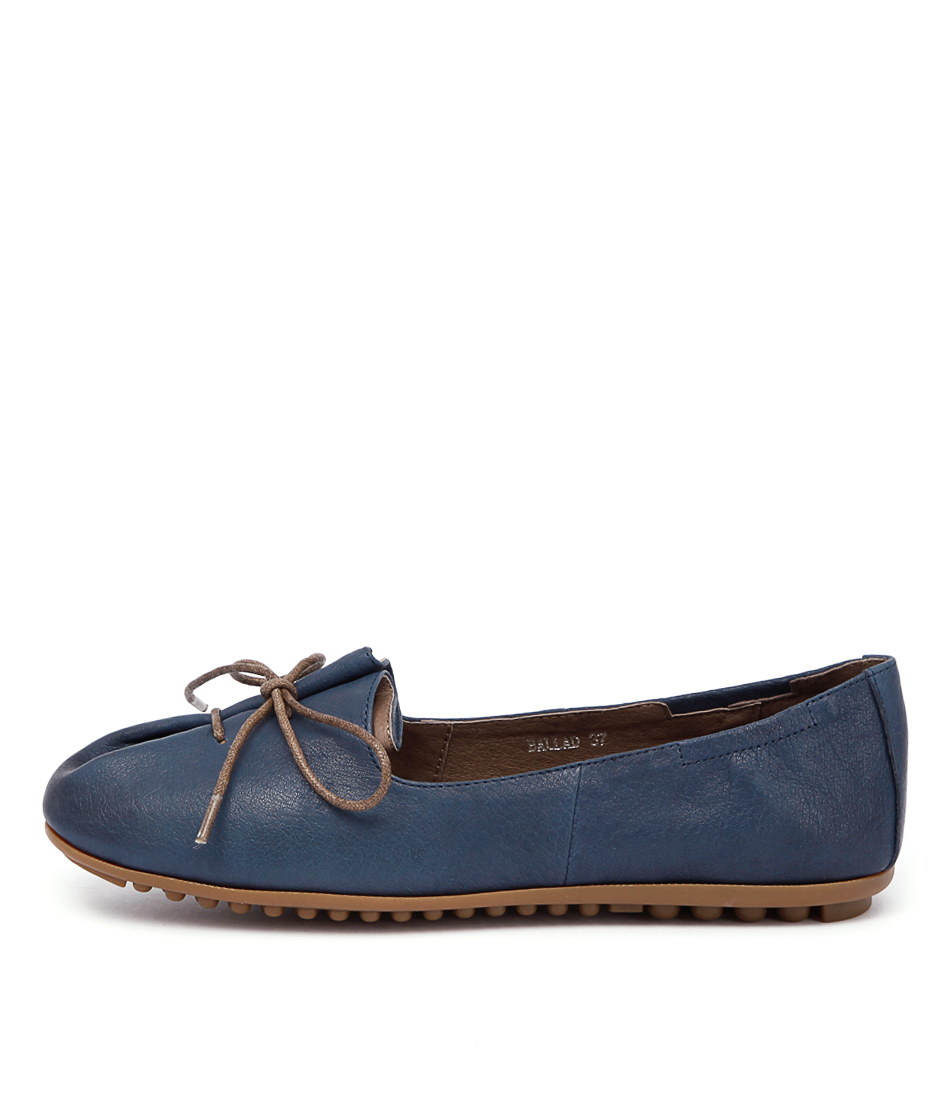 Django & Juliette Ballad Navy Flat Shoes