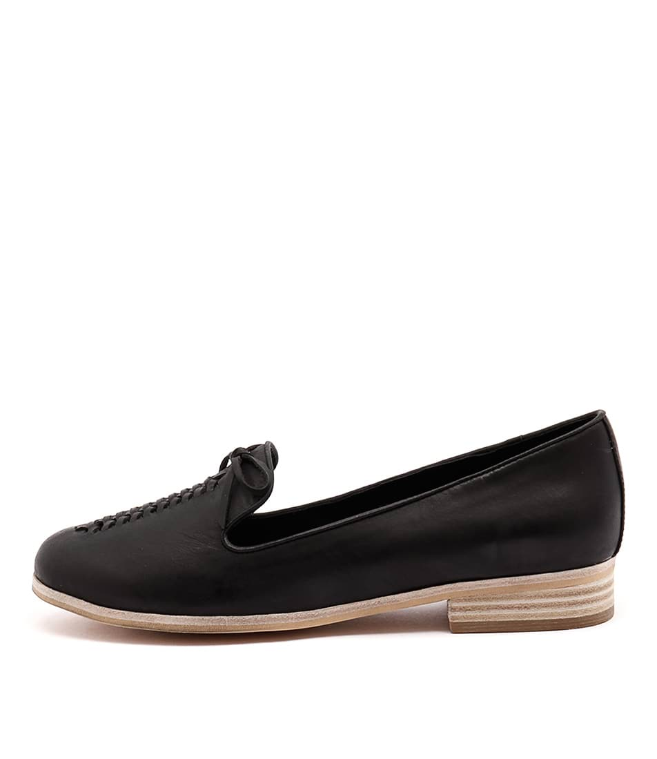 Django & Juliette Allstop Black Casual Flat Shoes