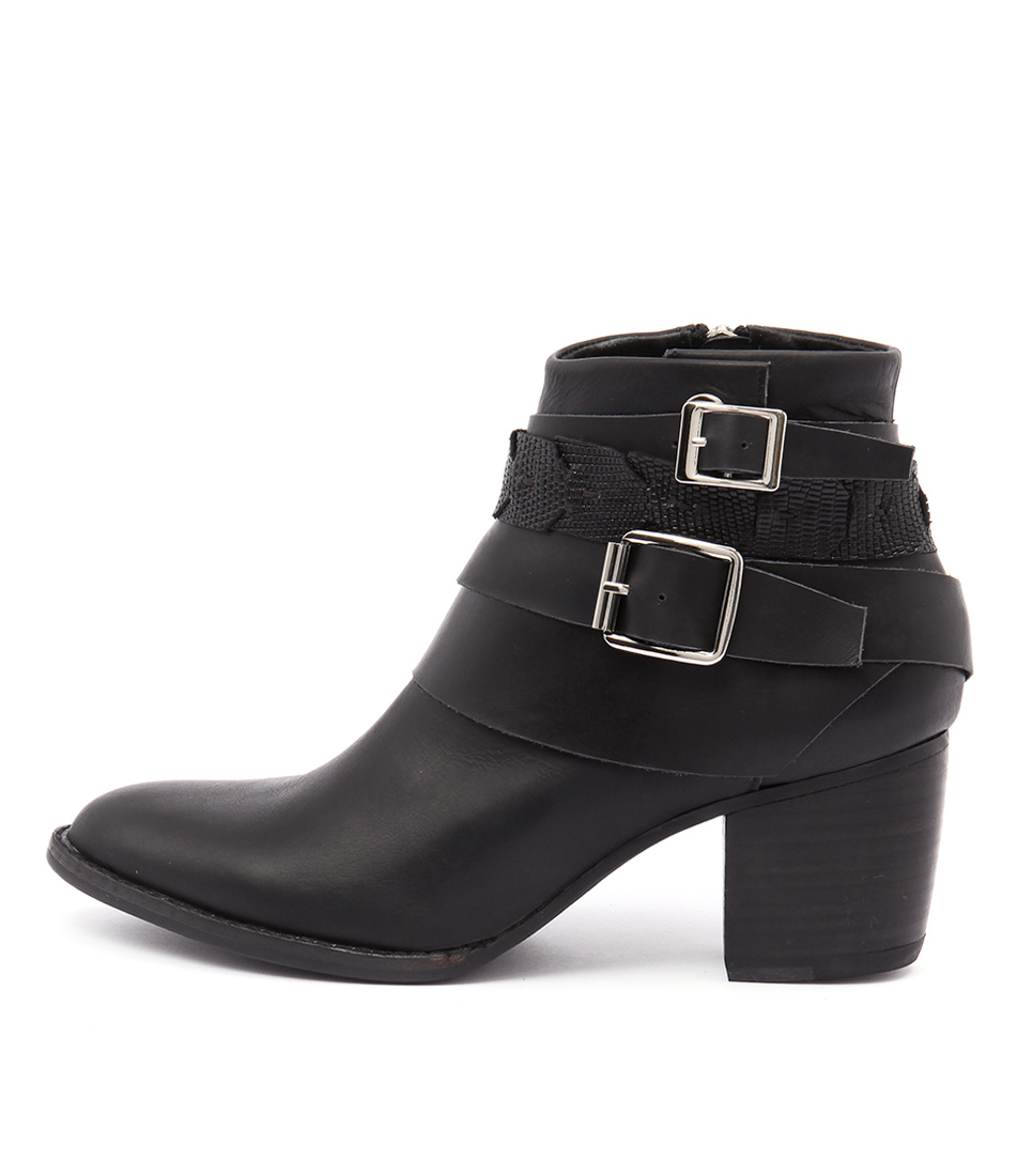 Django & Juliette Bree Black Mix Ankle Boots